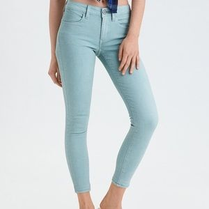 NWT mint green high waist ankle jeggings size 0R